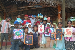 Children affected by conflict in Sri Lanka receive play therapy and support at a Canadian Red Cross funded centre.