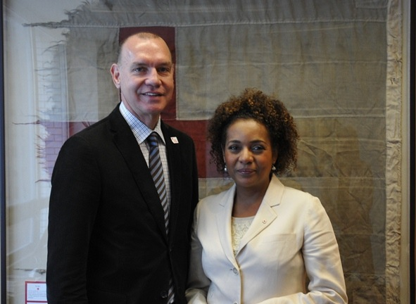 Conrad Sauve and Michaelle Jean