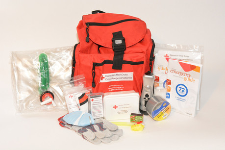 a Red Cross emergency kit
