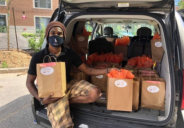 Rommel Griffith delivers food to Black families in the Montreal area on behalf of the African Canadian Development and Prevention Network. Since COVID-19 began, the organization says it's heard from many families about the struggle to put food on the table.