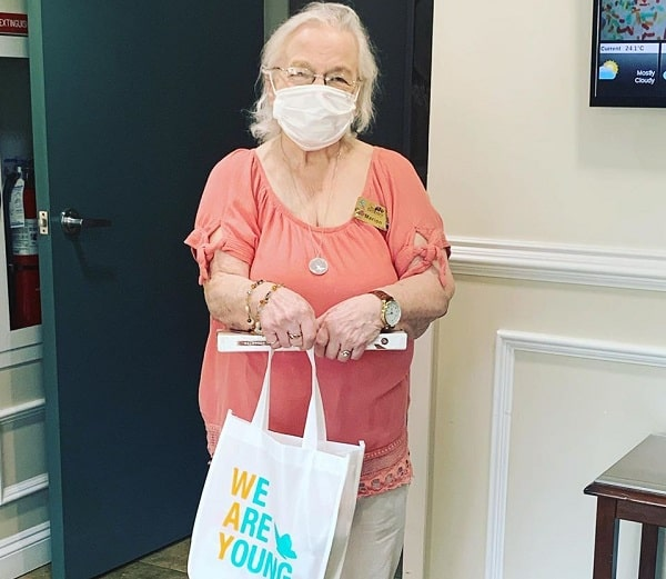 Marion Conrad is one of more than 500 seniors in Nova Scotia to receive a self-care gift bag from We Are Young. The non-profit is using funds received from the Red Cross to distribute the bags to seniors who may be feeling isolated during COVID-19.