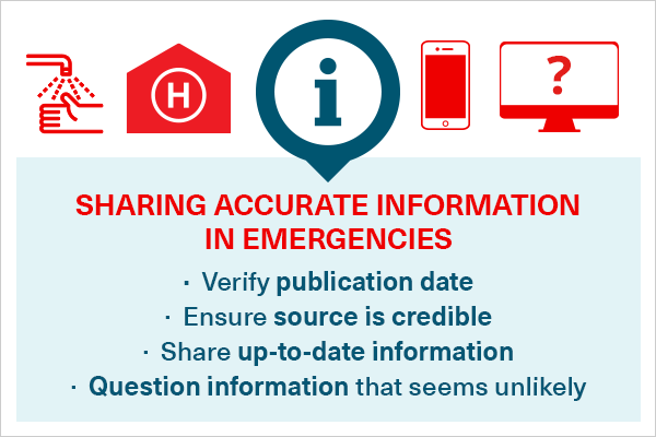 Share accurate information during emergencies