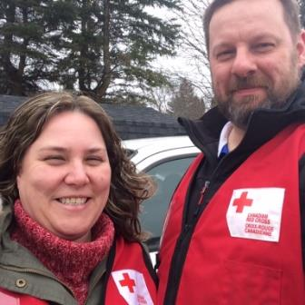 Fred Bron and Dawn Giddens, Canadian Red Cross volunteers