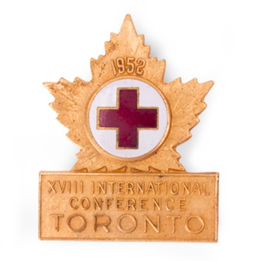 18th International Red Cross Conference Pins