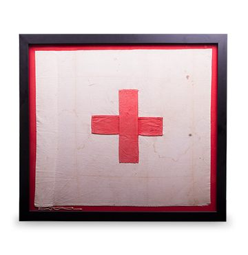 Ryerson Red Cross Flag flown during Battle of Batoche