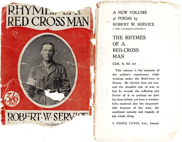 """The Rhymes of a Red Cross Man"" dust jacket"