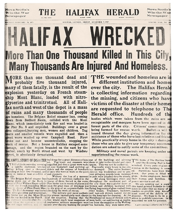 Halifax Herald front page