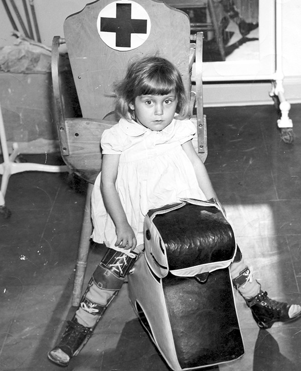 Photograph of Child Receiving Orthopaedic Care