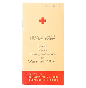 Canadian Red Cross History - Items, Artifacts, Objects