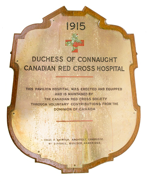 Duchess of Connaught Canadian Red Cross Hospital Plaque