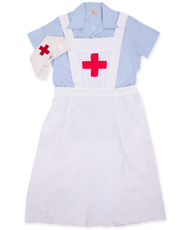 On-duty hospital uniform of Nursing Auxiliary members of the Canadian Red Cross Corps, ca. 1939-1945