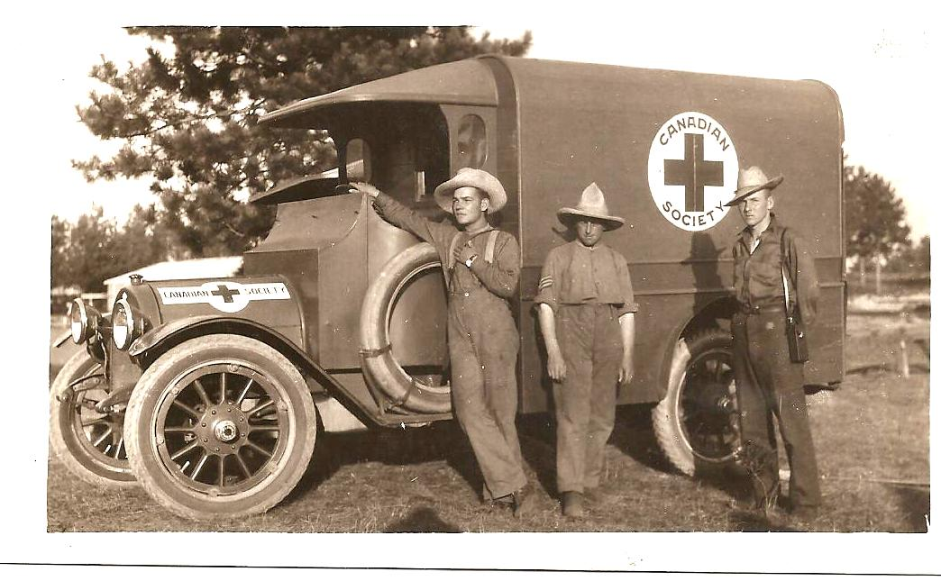 WWI Ambulance Photograph