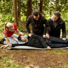 Red cross wilderness first aid course, four participants