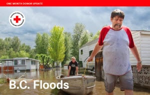 BC floods 1 month donor report