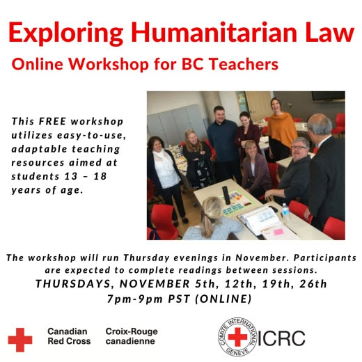 Exploring Humanitarian Law_ ONLINE Educator Training for BC Teachers
