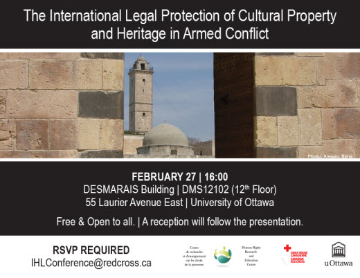 The International Legal Protection of Cultural Property and Heritage in Armed Conflict poster