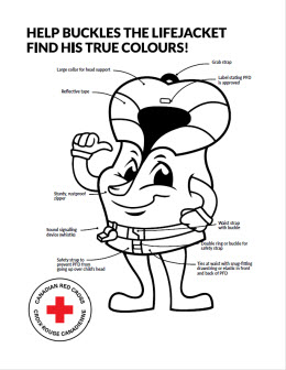 Life jacket coloring page
