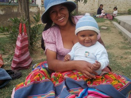 Mom and Baby Reached through Bolivian Red Cross-Canadian Red Cross MNCH Program