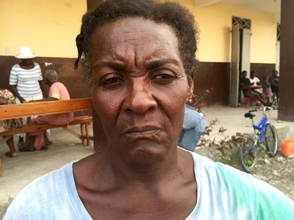 Thérèse Ulysse, 60, has been staying with a friend in the town of Les Cayes