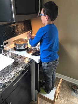 My nephew loves to cook