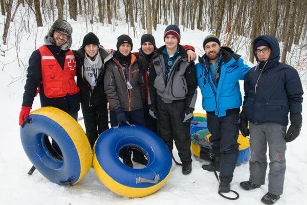 Winter camp with the Scouts of the Notre-Dame-de-l'Annonciation parish of Pierrefonds