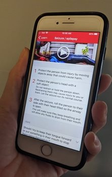 The Red Cross first aid app