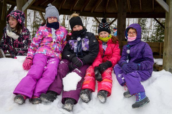 Winter camp with the Scouts from the Notre-Dame-de-l'Annonciation parish in Pierrefonds