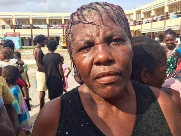 Marie-Jacqueline Émile, 65, has been staying at Philippe Guerrier school in Les Cayes