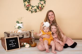 Felicia Clark pictured with her two daughters