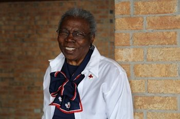 Sally St. Lewis, a Red Cross volunteer for 60 years