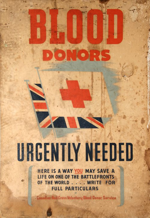 Wartime Red Cross Blood Donor poster