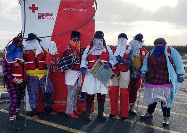 Red Cross mummers