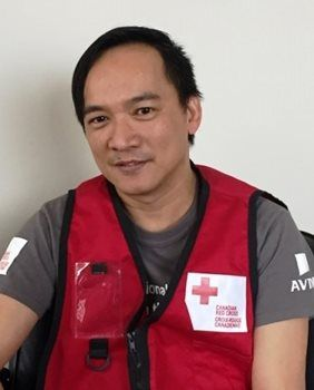 Bounty Peralta has worked at Aviva Canada since 2014 and was trained as a Ready When the Time Comes volunteer with Red Cross